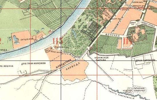 Современная карта этого места